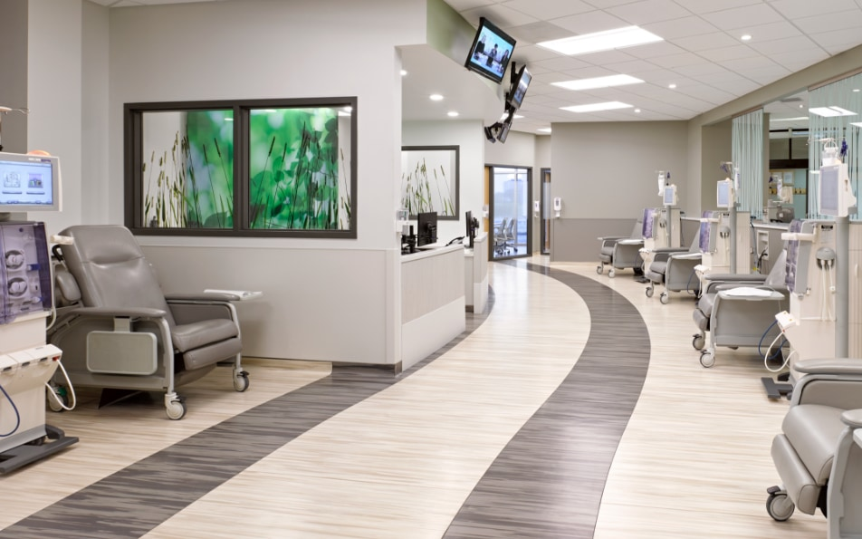 a hallway in a facility